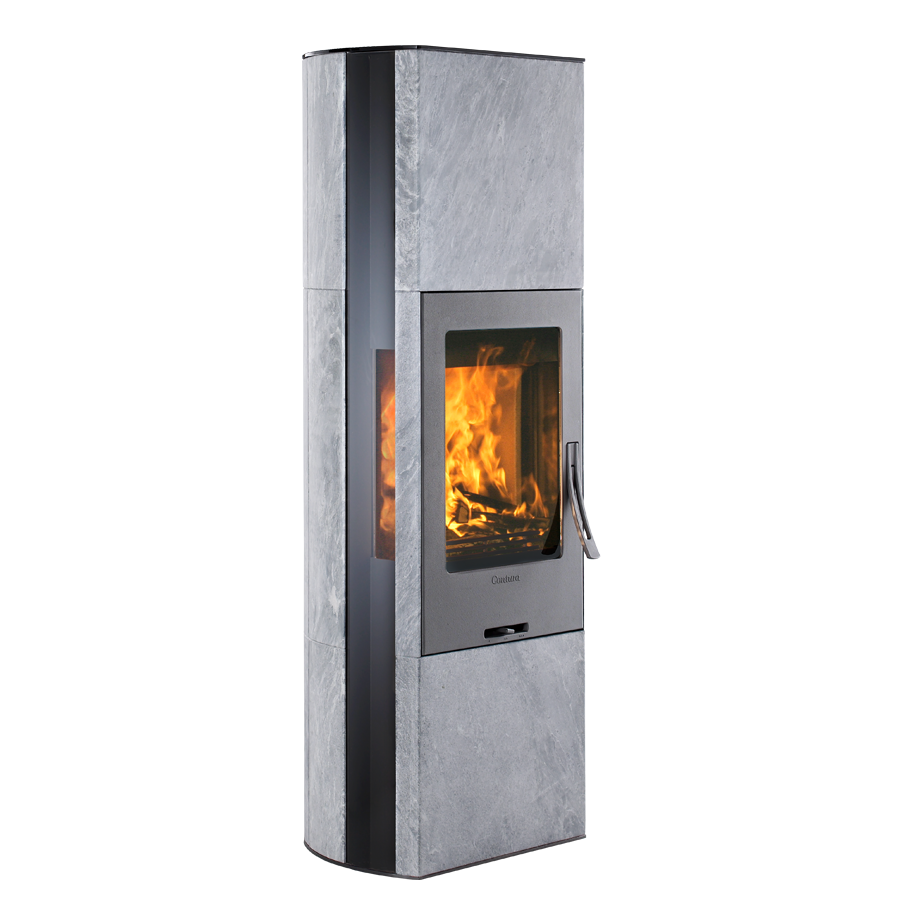Contura 35T, grey with glass top