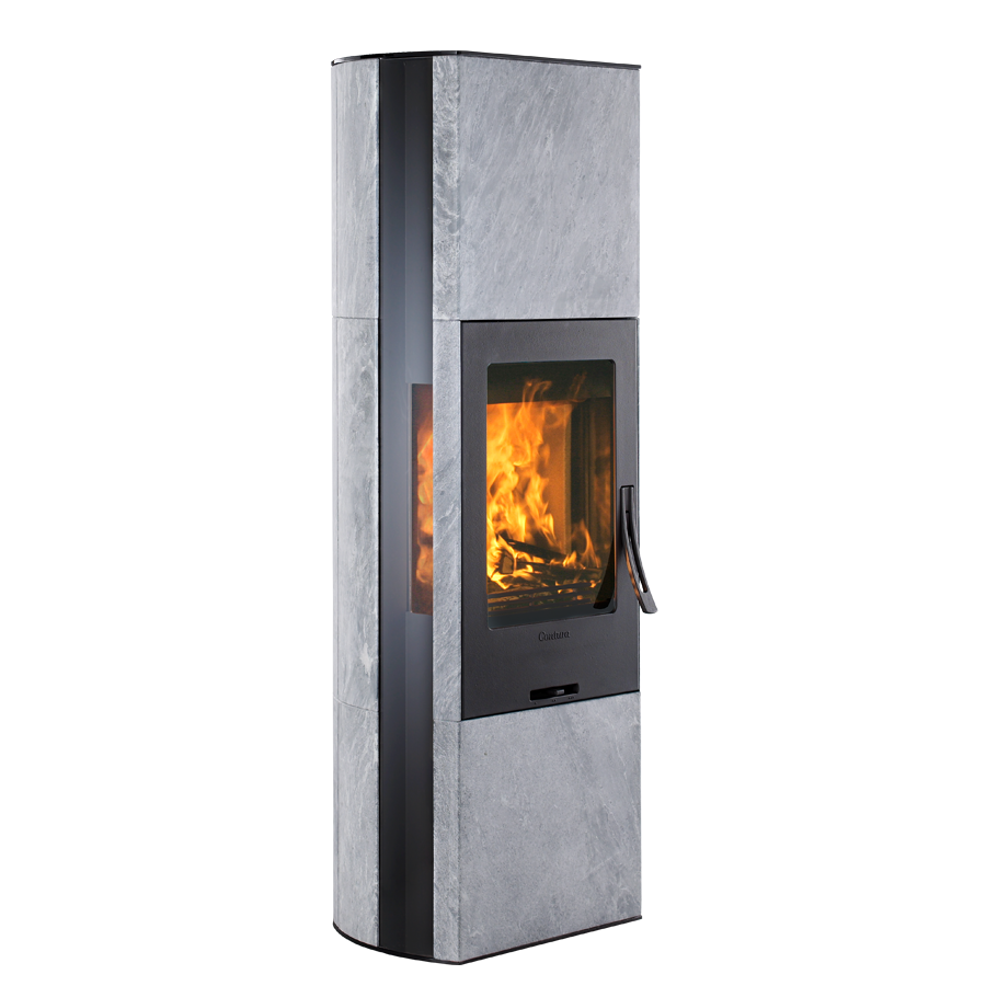 Contura 35T, black with glass top