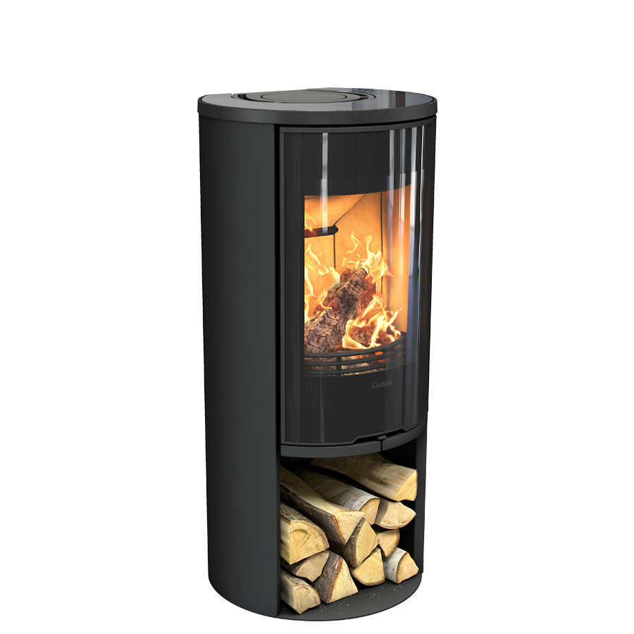 Contura 510G Style, black with glass top