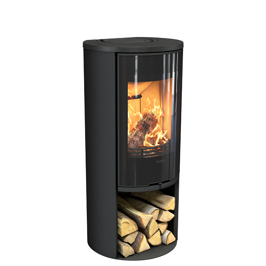 Contura 510G Style, black with painted aluminium top