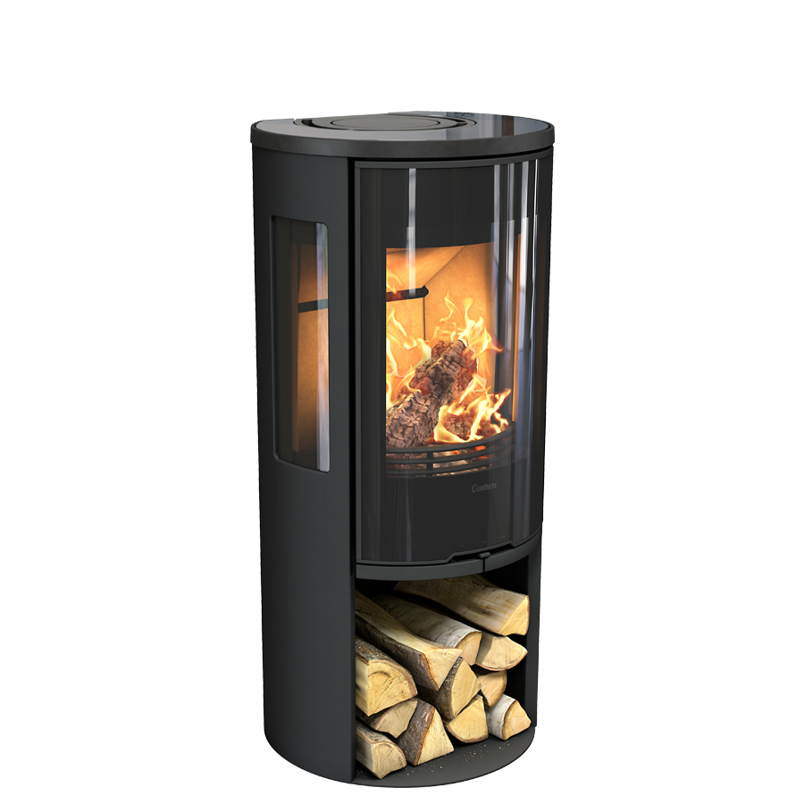 Contura 556G Style, black with glass top