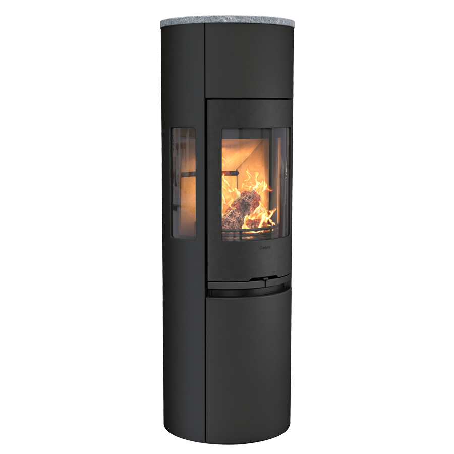 Contura 596 Style, black with glass top
