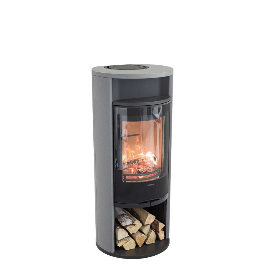 Contura 610AG Style, black with warming shelf