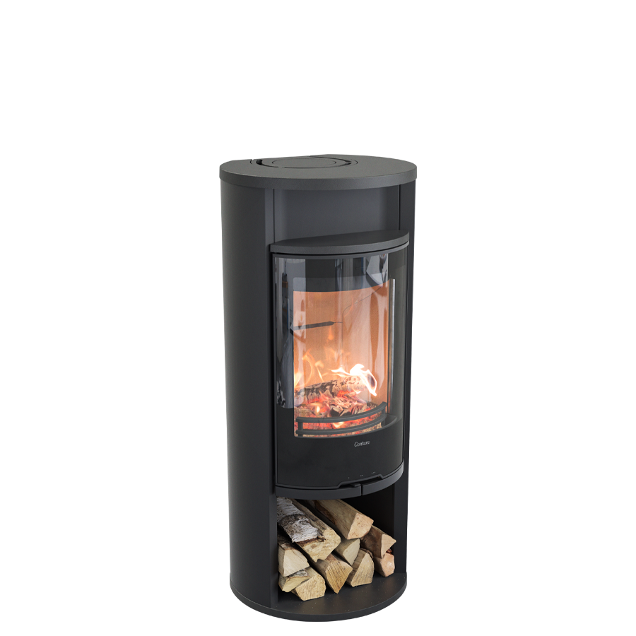 Contura 610G Style, black with warming shelf