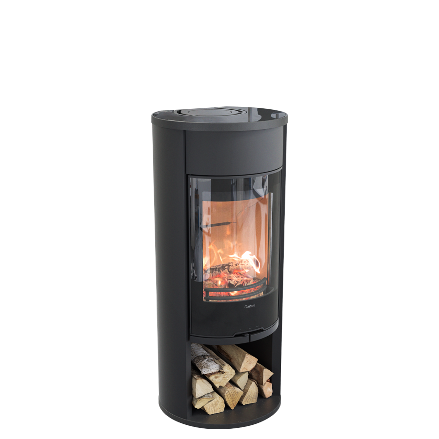 Contura 610G Style, black with glass top