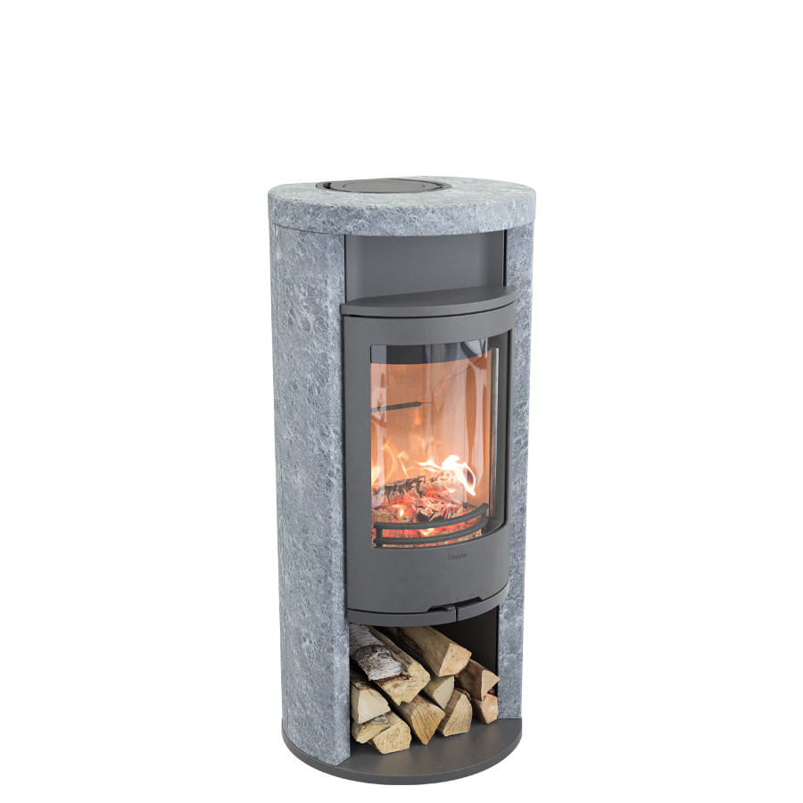 Contura 620T Style, gray with warming shelf