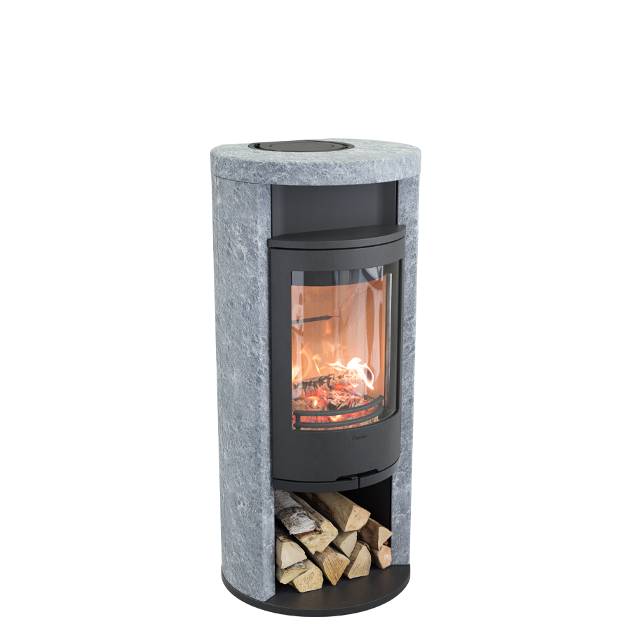 Contura 620T Style, black with warming shelf