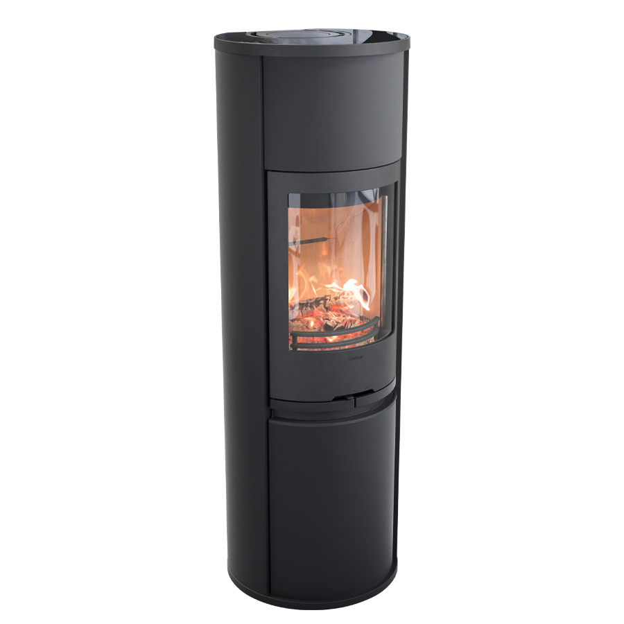Contura 690 Style, black with glass top