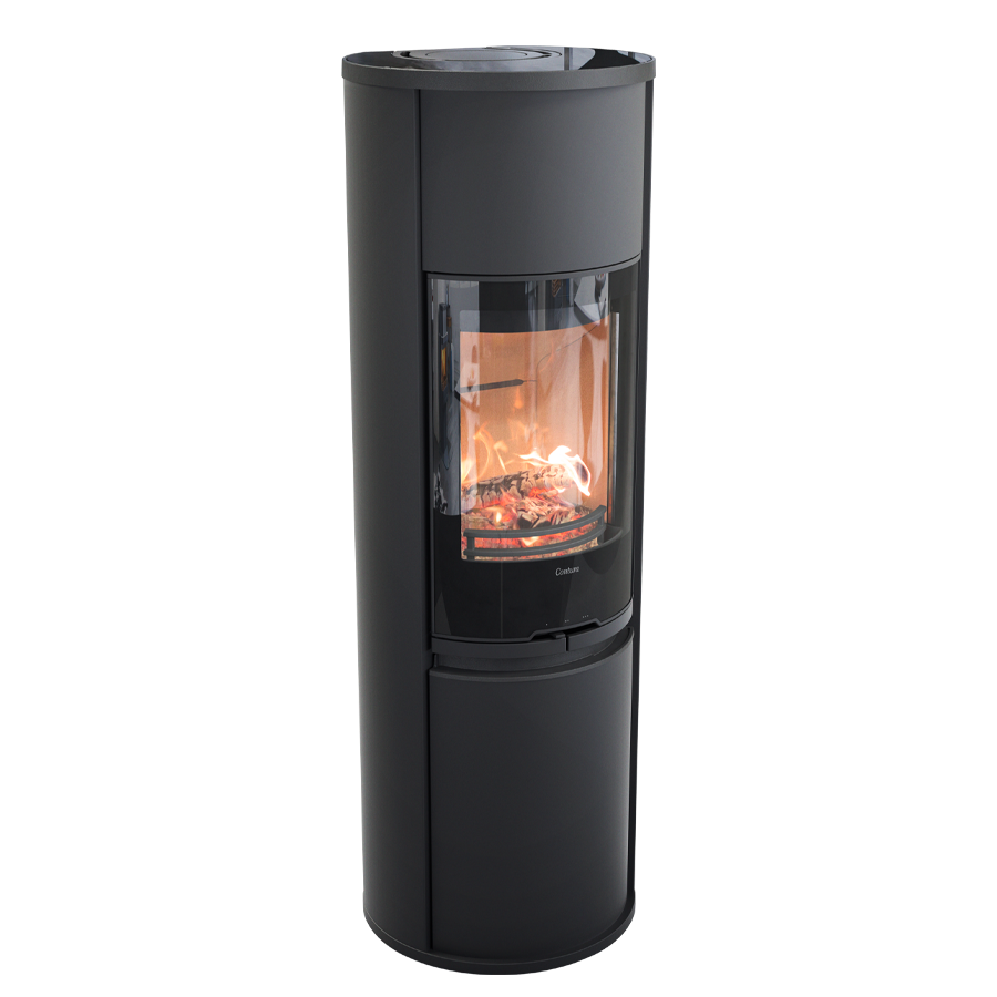 Contura 690G Style, black with glass top