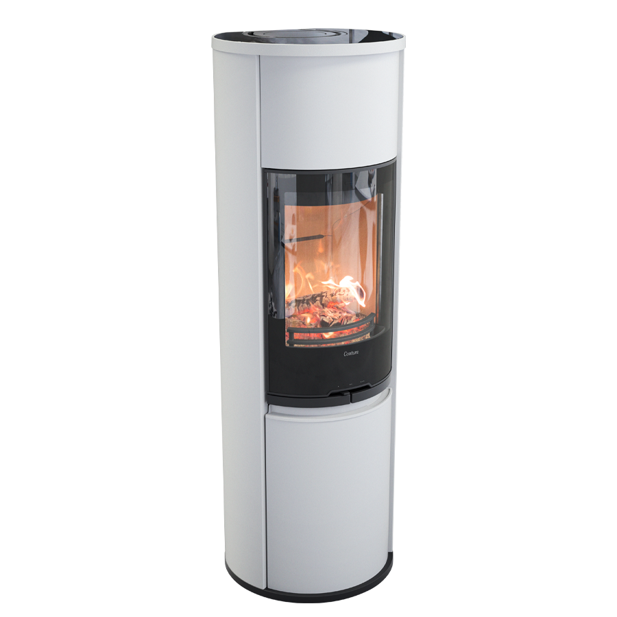 Contura 690G Style, white with glass top