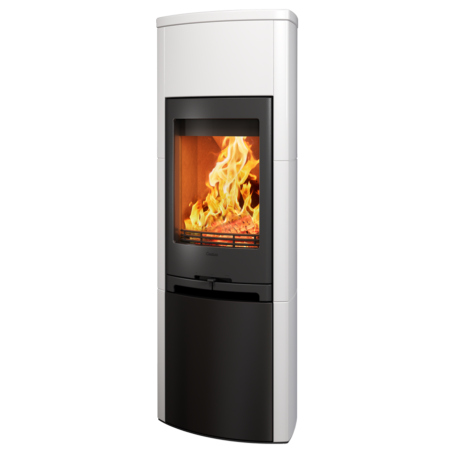 Contura 790K, black with white surround and steel lower door