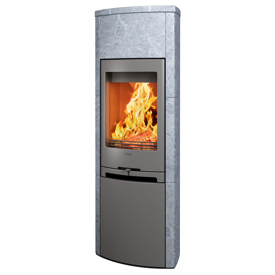 Contura 790T, grey with steel lower door