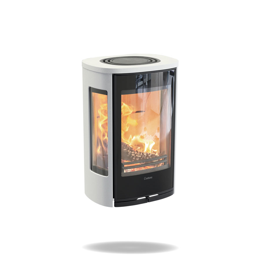 Wall mounted wood burning stove Contura 856W Style
