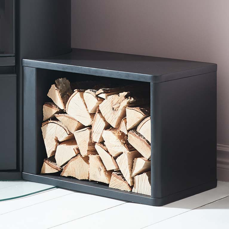 Freestanding wood storage. Exclusive to Contura 600 Style series.