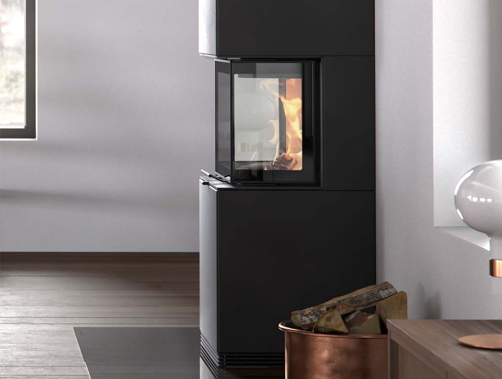 The Contura i61 can be installed freestanding in your interior or against a wall