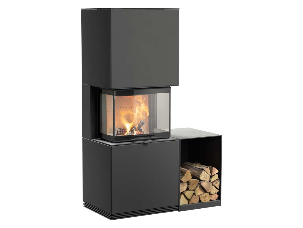 Fireplace Contura i61 with a log box