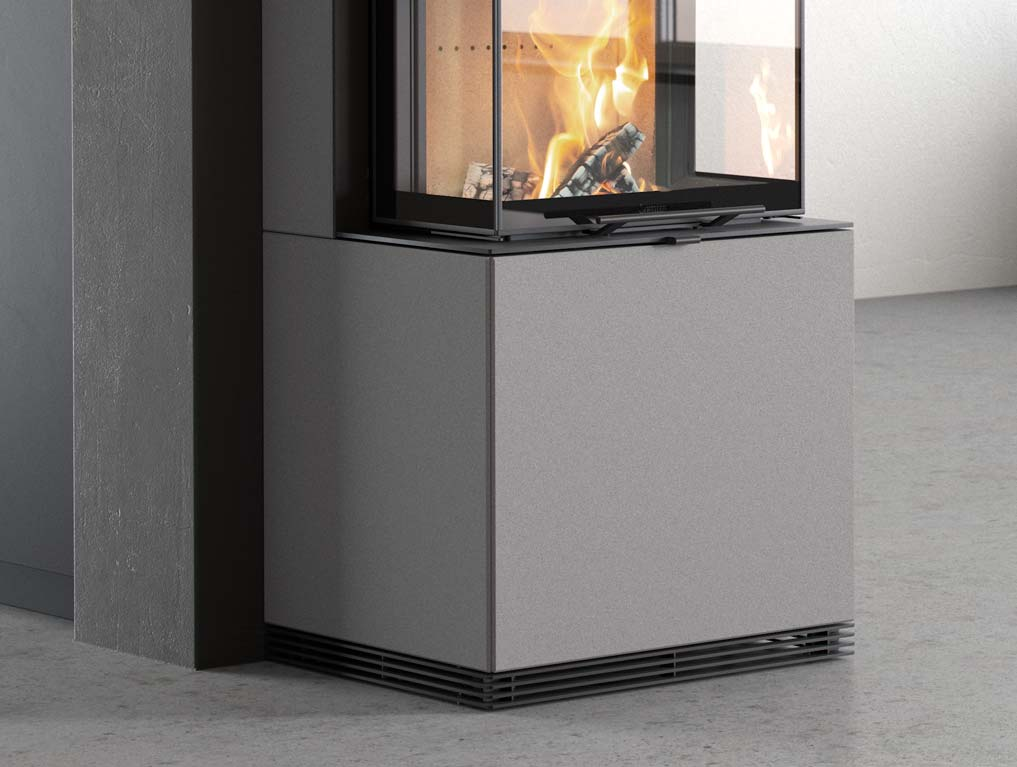 For the Contura i61, the firebox has been raised to a height of 57 centimetres