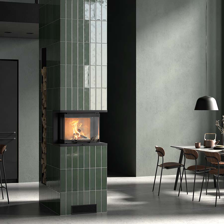 Fireplace insert Contura i60 with tiles