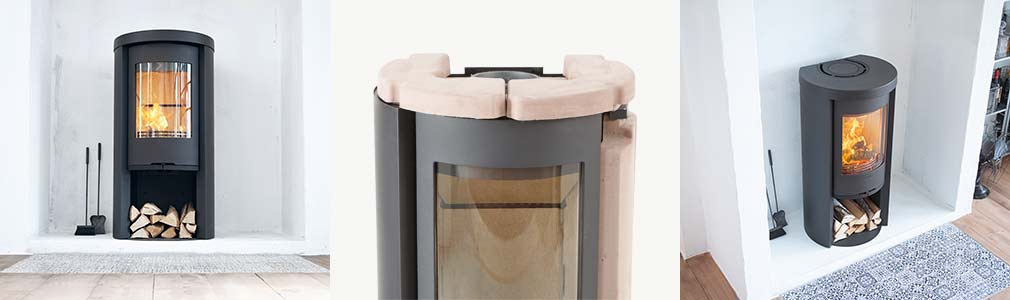 Wood burning stove Contura 520 Style with powerstone